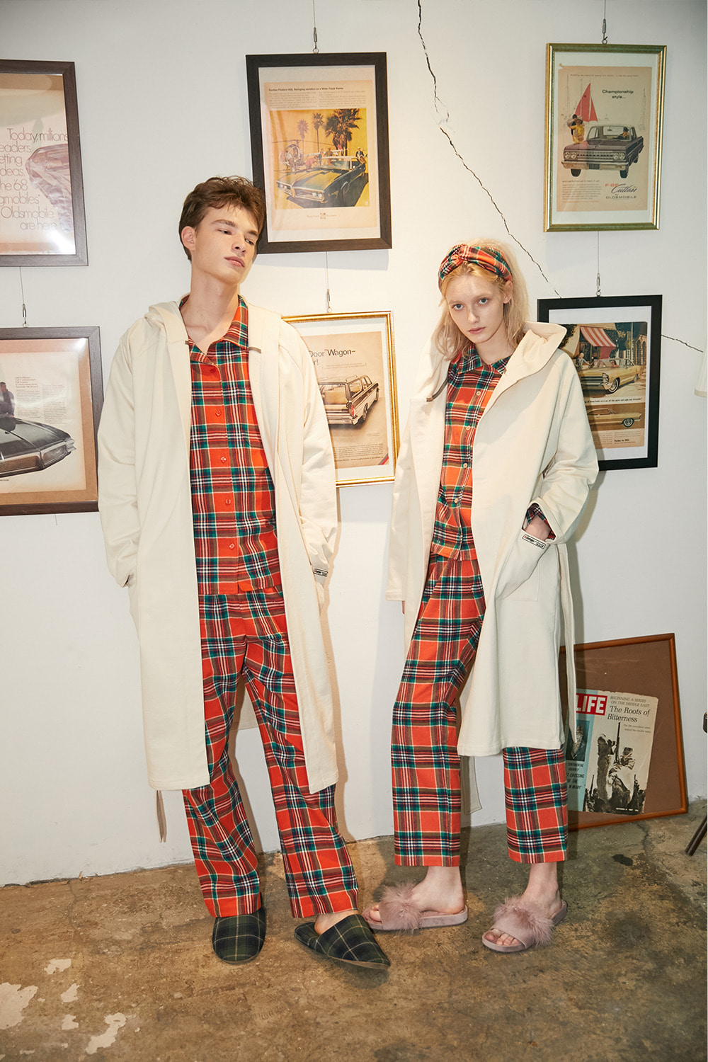 [발렌타인 데이]HOODY ROBE COUPLE SET