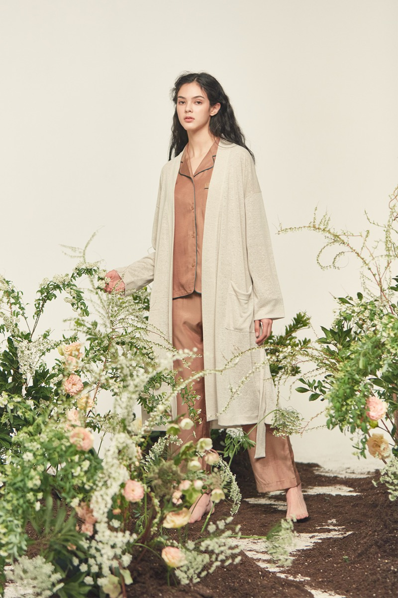NATURAL LINEN ROBE , Ivory (Women)