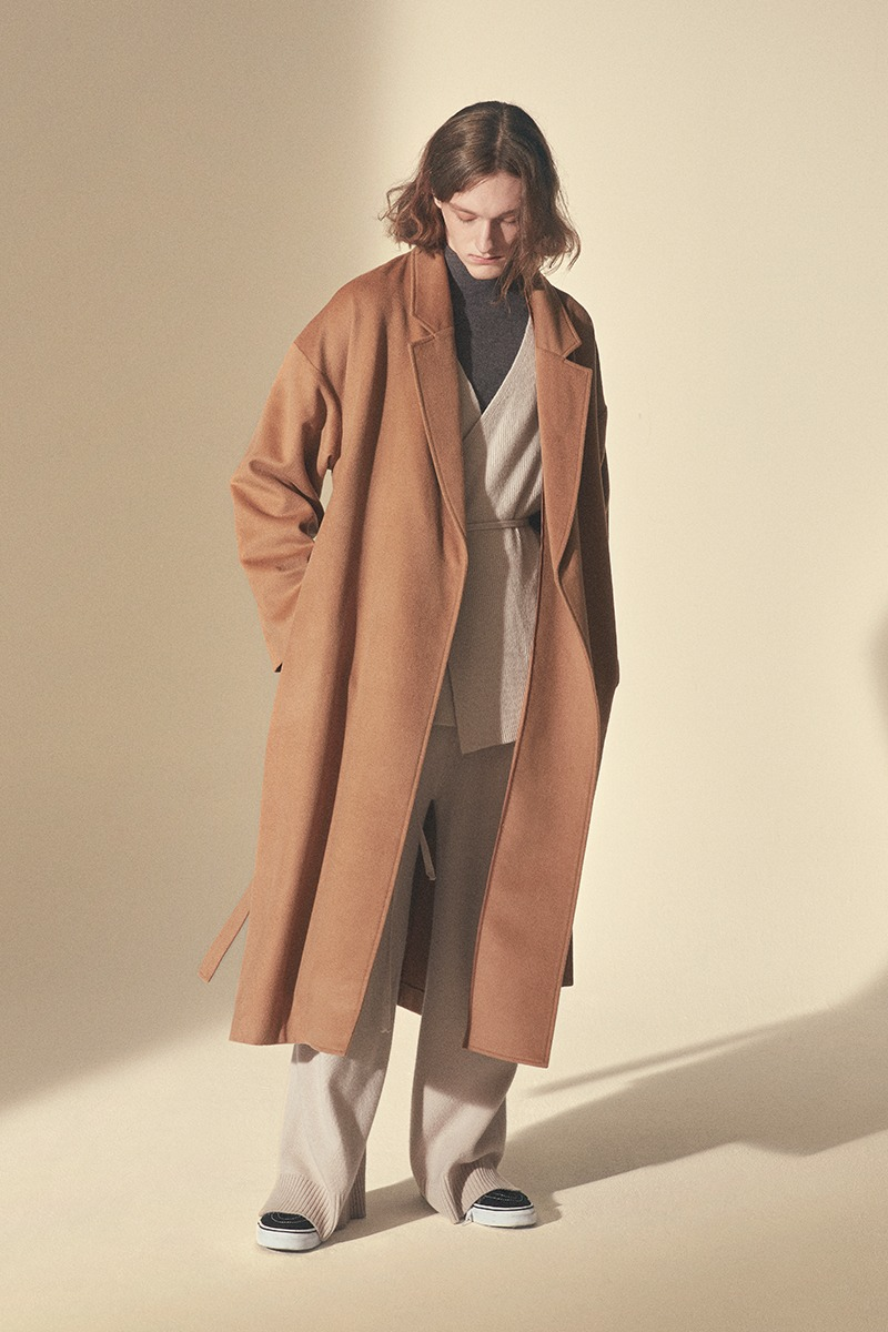 WOOL ROBE COAT_Camel