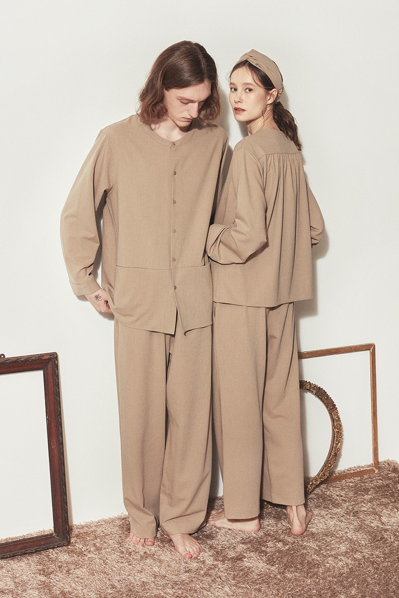 [발렌타인 데이]COZY PAJAMA COUPLE SET_Beige