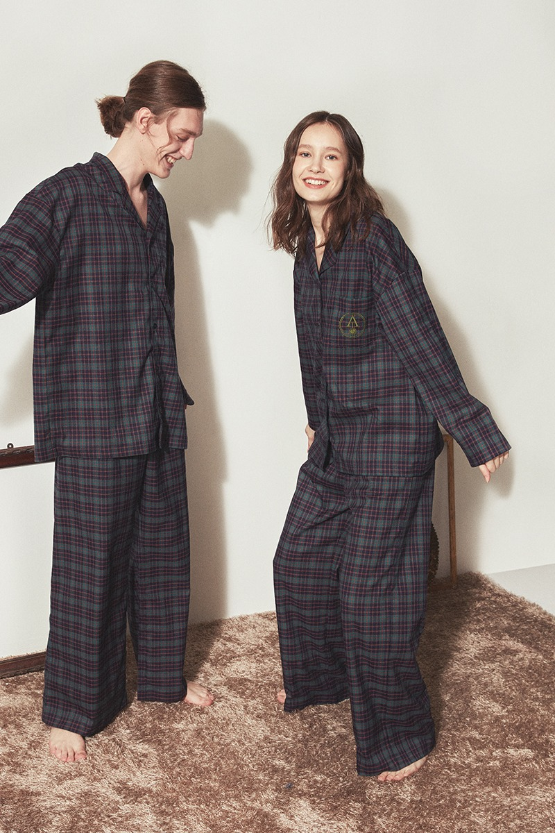 [발렌타인 데이]CLASSIC PAJAMA COUPLE SET_Forest check
